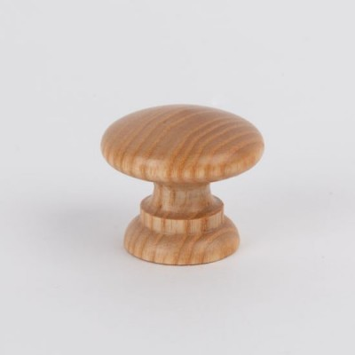 Knob style A 36mm ash lacquered wooden knob