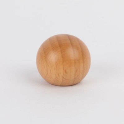 Knob style B 30mm beech lacquered wooden knob