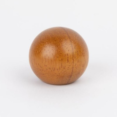 Knob style B 44mm Iroko lacquered wooden knob
