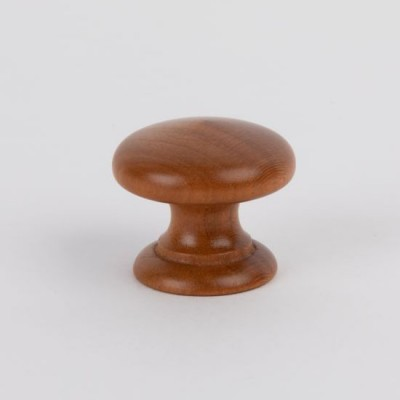 Knob style D 38mm iroko lacquered wooden knob