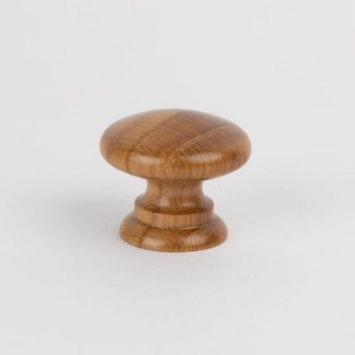 Knob style A 30mm oak lacquered wooden knob