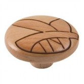 Wooden Engraved Knob 421HN