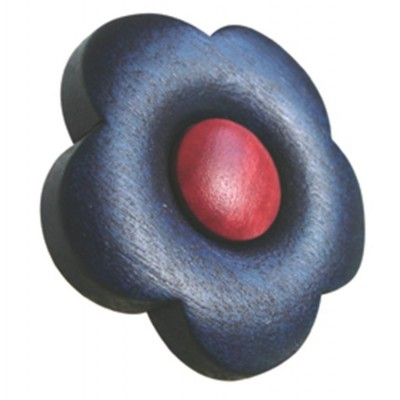 Contemporary Wooden Flower Knob 423AZ