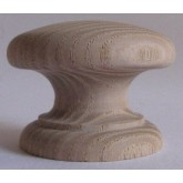 Knob style D 48mm ash sanded wooden knob