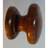 Knob style D 38mm walnut lacquered wooden knob