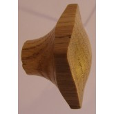 Knob style N 35mm oak lacquered wooden knob