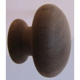 Knob style R 30mm walnut sanded wooden knob