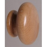Knob style R 48mm maple lacquered wooden knob