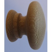 Knob style A 40mm iroko sanded wooden knob