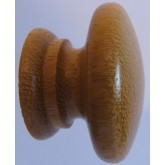 Knob style A 48mm iroko lacquered wooden knob