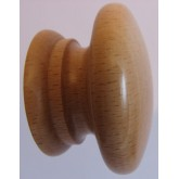 Knob style A 48mm beech lacquered wooden knob