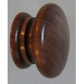 Knob style A 48mm walnut lacquered wooden knob