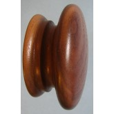 Knob style A 70mm walnut lacquered wooden knob