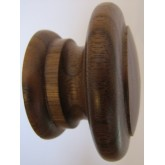 Knob style E 55mm walnut lacquered wooden knob