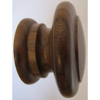 Knob style E 55mm walnut lacquered wooden knob