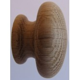 Knob style R 44mm oak sanded wooden knob