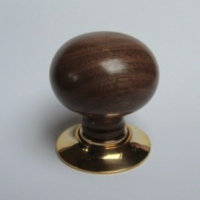 Walnut wooden door handle