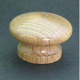 Knob style I 40mm oak lacquered wooden knob