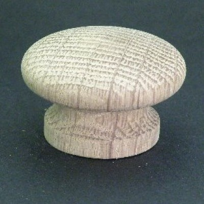 Knob style I 40mm oak sanded wooden knob