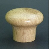 Knob style M 48mm oak lacquered wooden knob