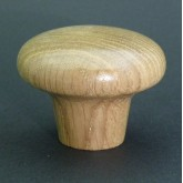 Knob style M55mm oak lacquered