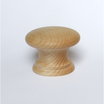 Large Beech3 Wooden Sanded Door Knob