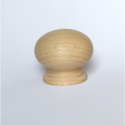 Large Beech4 Wooden Sanded Door Knob