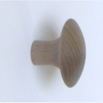 Knob style J 44mm walnut sanded wooden knob