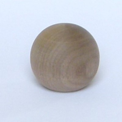 Knob style B 44mm walnut sanded wooden knob