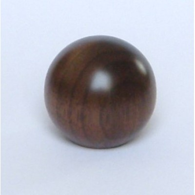 Knob style B 44mm walnut lacquered wooden knob