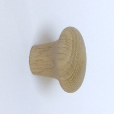 Knob style M 48mm oak sanded wooden knob