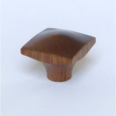 Knob style N 35mm sapele lacquered wooden knob