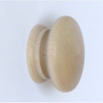 Knob style A 55mm maple sanded wooden knob