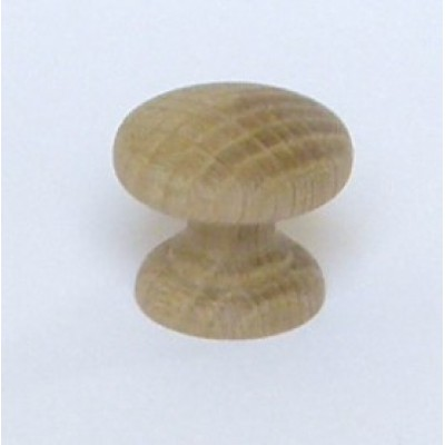 Knob style D 30mm oak sanded wooden knob