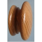 Knob style A 60mm oak lacquered wooden knob
