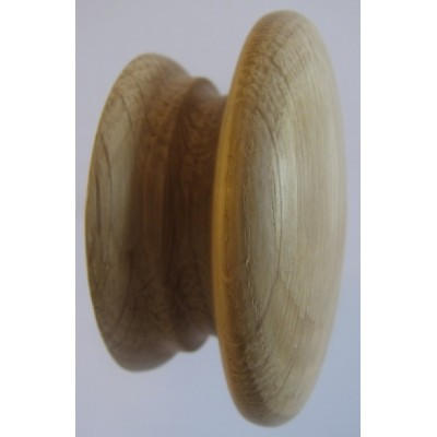 Knob style A 70mm oak sanded wooden knob
