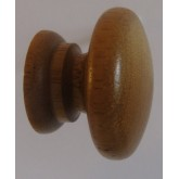 Knob style A 30mm iroko lacquered wooden knob