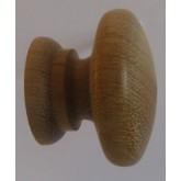 Knob style A 30mm iroko sanded wooden knob