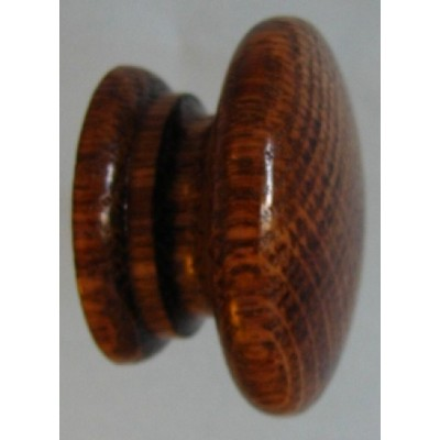 Knob style A 48mm oak antique stained and lacquered wooden knob