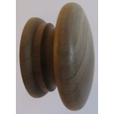 Knob style A 55mm walnut sanded wooden knob