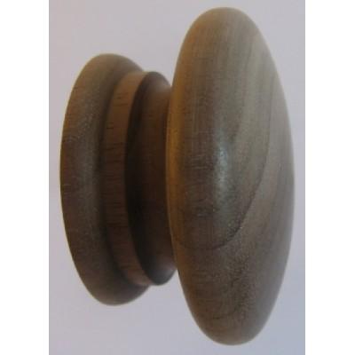 Knob style A 55mm walnut sanded wooden knob