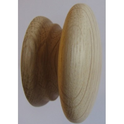 Knob style A 60mm oak sanded wooden knob