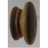 Knob style A 70mm iroko sanded wooden knob