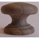 Knob style D 38mm walnut sanded wooden knob