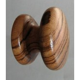 Knob style D 48mm zebrano lacquered wooden knob