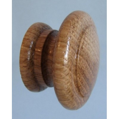 Knob style E 48mm oak lacquered wooden knob