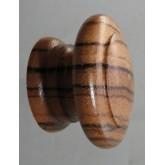 Knob style E 48mm zebrano lacquered wooden knob