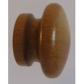 Knob style I 30mm iroko lacquered wooden knob