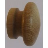 Knob style I 30mm iroko sanded wooden knob