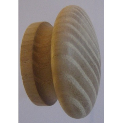 Knob style I 48mm ash sanded wooden knob